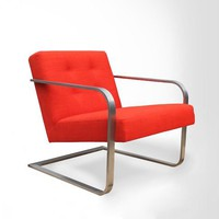 Steel-Armed Bend Chair - Persimmon