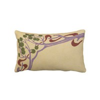 Art Nouvea Lumbar Pillow from Zazzle.com