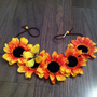 Sunflower Butterfly Headband, Flower Crown, Flower Halo, Festival Wear, EDC, Ultra Music Festival, Ezoo, Coachella