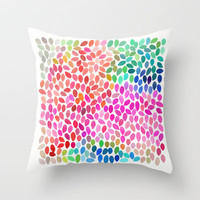 Rain 5 Throw Pillow by Garima Dhawan