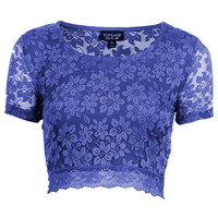 Lace Crop Tee - Jersey Tops - Clothing - Topshop USA