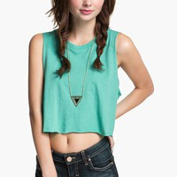 Project Social T Shredded Crop Muscle Tee (Juniors) | Nordstrom