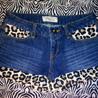 Leopard Print Cuff Shorts  by AngeliqueMerici on Etsy