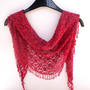 pink scarf , lacy women scarves, summer spring trends , trendscarf for her