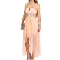 Ellie Mae-Peach Prom Dress