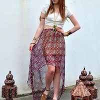 Morrocan Mosaic Asymmetric Maxi from Nereus London