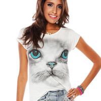 Papaya Clothing Online :: BABY CAT HIGH-LOW TOP