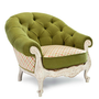 Upholstered cotton armchair NARCISO Countryside Collection by Exedra furniture