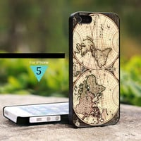 Vintage World Map Classic - For iPhone 5 Case, Hard Cover