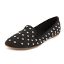 Studded Canvas Slip-On Loafer: Charlotte Russe