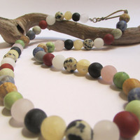 Gemstone Necklace, Multicolor Necklace