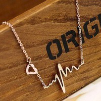 Personalized ECG necklace