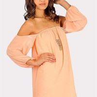 Desert Moon Dress - Peach at Necessary Clothing