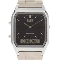 Casio AQ-230A-1DMQYES Bracelet Timer Watch at asos.com