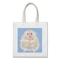 Cute and funny hamster tote bag from Zazzle.com