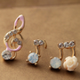 Music Notes Earrings Set
