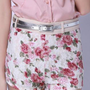 Retro Flower Low Waisted Lace Shorts