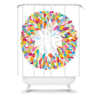 DENY Designs Home Accessories | Sharon Turner Fizzy Feathers Shower Curtain