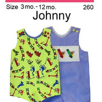 Romper Pattern Little Boy 3 months to 12 months size