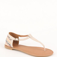 Qupid Athena Printed Sandals at PacSun.com