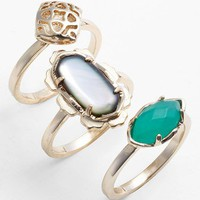 Kendra Scott 'Isha' Mixed Stone Rings (Set of 3) | Nordstrom