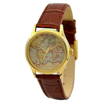Ladies Vintage Map Watch (World 1)