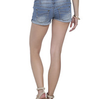 Buttoned Roll Cuff Short | Shop Bottoms at Wet Seal