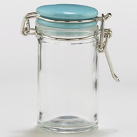 Spice Jars with Aqua Ceramic Lids, Sets of 6 | World Market
