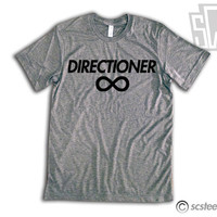 "One Direction ""Directioner"" Vintage Fit Triblend Shirt - 1D Summer Trends, Harry Styles, Niall Horan, Zayn Malik, Louis Tomlinson 011"