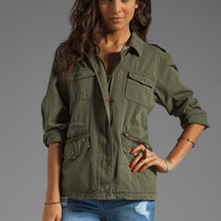 Velvet x Lily Aldridge Ruby Army Jacket in Forest from REVOLVEclothing.com