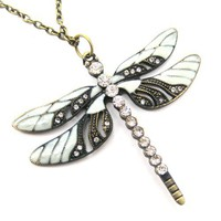 Classic Dragonfly Butterfly Insect Animal Pendant Necklace