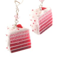 Heart Layer Cake Earrings in Pink Ombre - Valentine's Day Earrings - Whimsical & Unique Gift Ideas for the Coolest Gift Givers