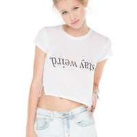 Brandy ♥ Melville |  Carolina Stay Weird Top - Just In