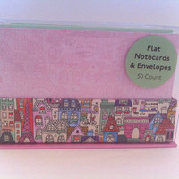 NEW Cartoon Paris 50 Notecards & Envelopes
