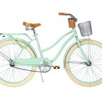 Amazon.com: Huffy Women's Deluxe Cruiser Bike, Mint Green, 26-Inch/Medium: Sports & Outdoors