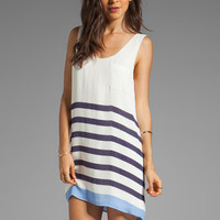 Joie Dawna Stripe Print Dress in Blue Violet from REVOLVEclothing.com