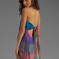 Twelfth Street By Cynthia Vincent Conch Tie Back Strapless Maxi Dress in Turk Sunset from REVOLVEclothing.com