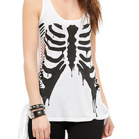 Teenage Runaway Drip Rib Cage Tank Top | Hot Topic