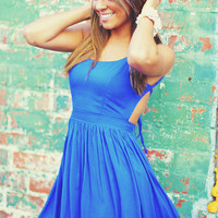 Feeling Fabulous Dress: Royal Blue | Hope's