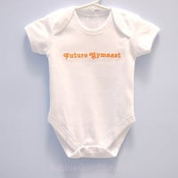 Future Gymnast Onesuit When I Grow Up Embroidered One-Piece Bodysuit