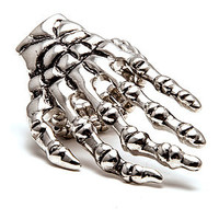 MKL Accessories Ring Skeleton Hand in Silver