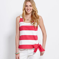 Shop Womens Tops: Awning Stripe Bow Top - Vineyard Vines