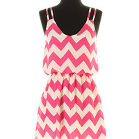 Cute Chevron Summer Dress