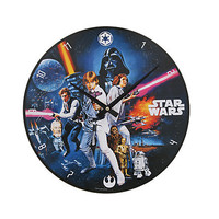 "Star Wars: A New Hope 13.5"" Cordless Wood Wall Clock 