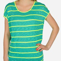 Daytrip Neon Striped Top - Women's Shirts/Tops | Buckle