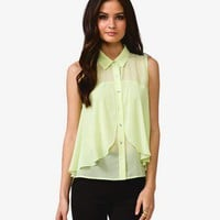 Flounced Georgette Top