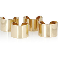 Maison Martin Margiela | Set of four gold-tone knuckleduster rings | NET-A-PORTER.COM