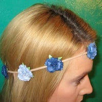 One of a Kind Blue Flower Crown