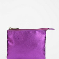 Ecote Cash N Stuff Metallic Zip-Pouch