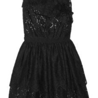 Nina Ricci | Ruffled cotton-blend floral-eyelet dress | NET-A-PORTER.COM